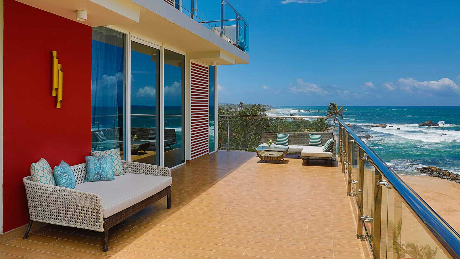 Private terrace in Grand Deluxe Ocean View