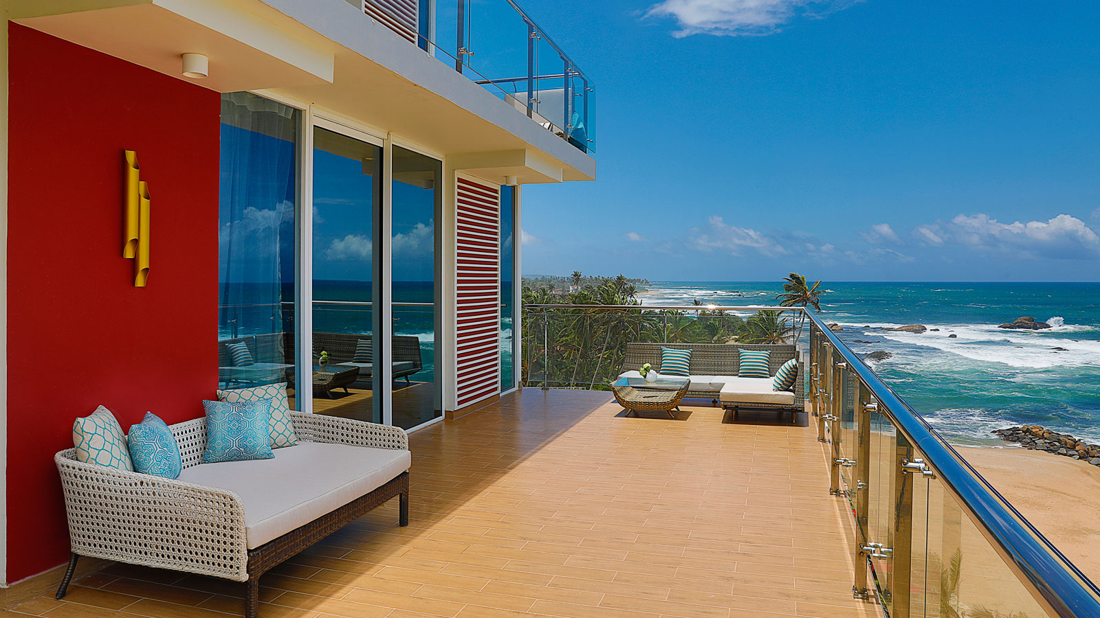 Terrace in Junior Suite Ocean View