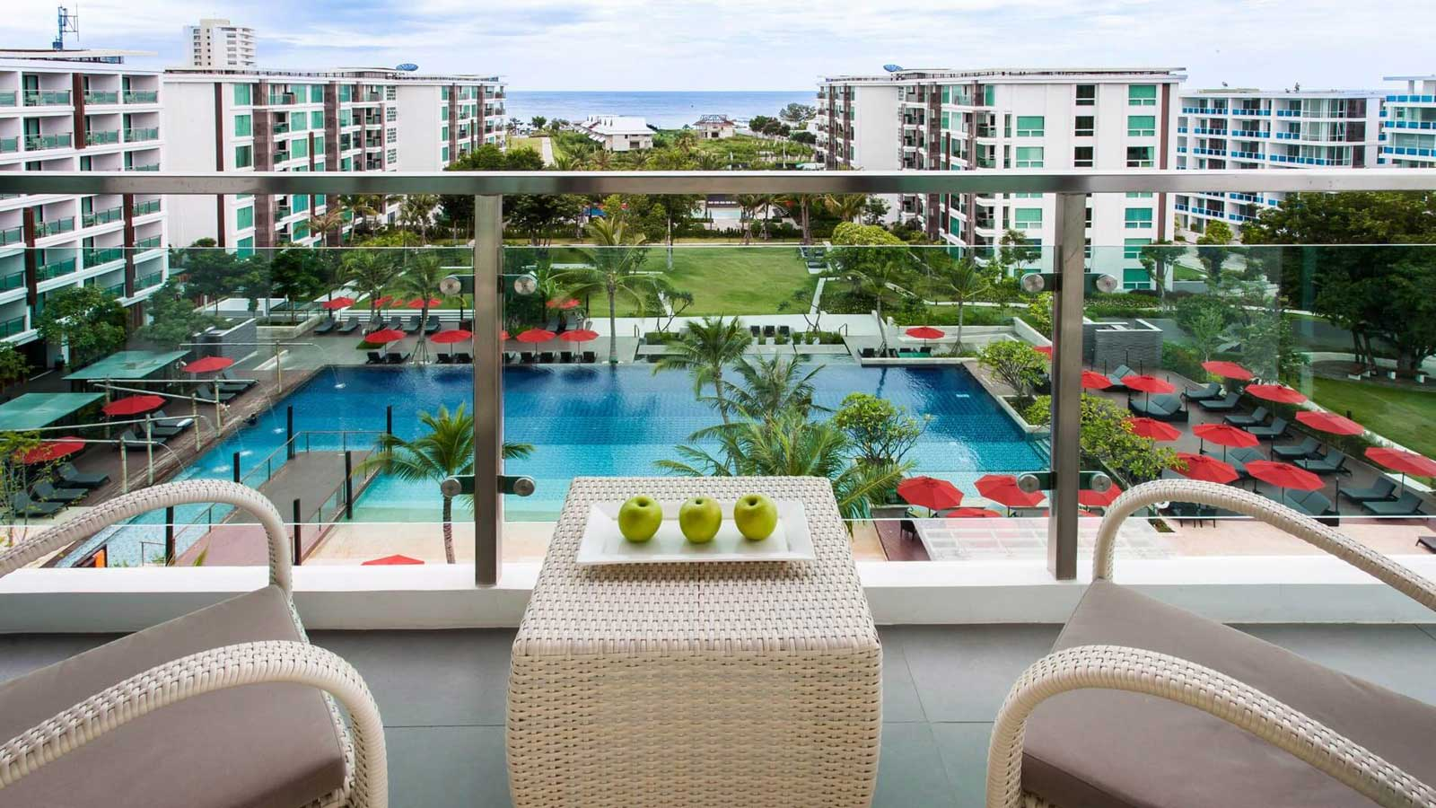 Balcony in One Bedroom Suite Pool View