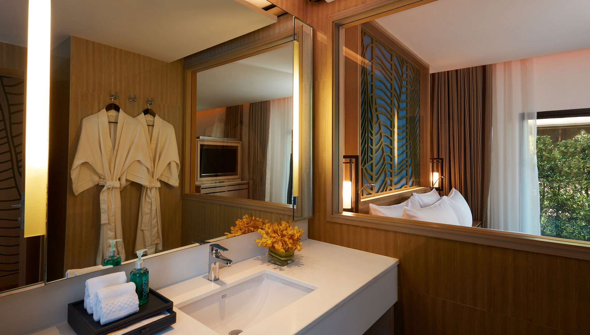 Master bathroom in Two Bedroom Family Suite Beach Wing