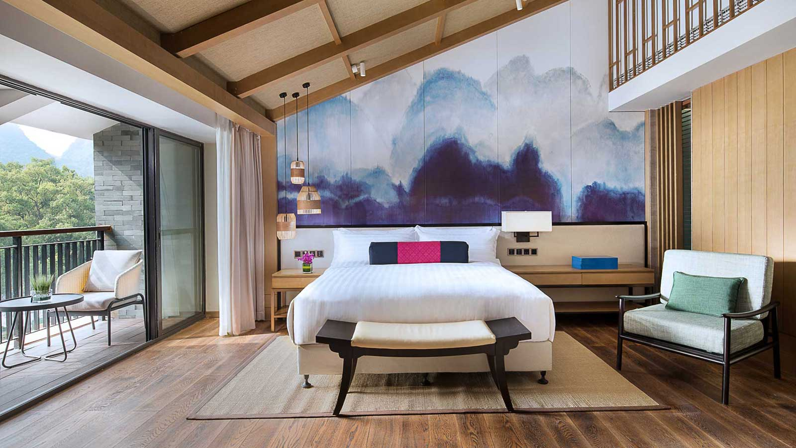 King-sized bed in Grand Deluxe