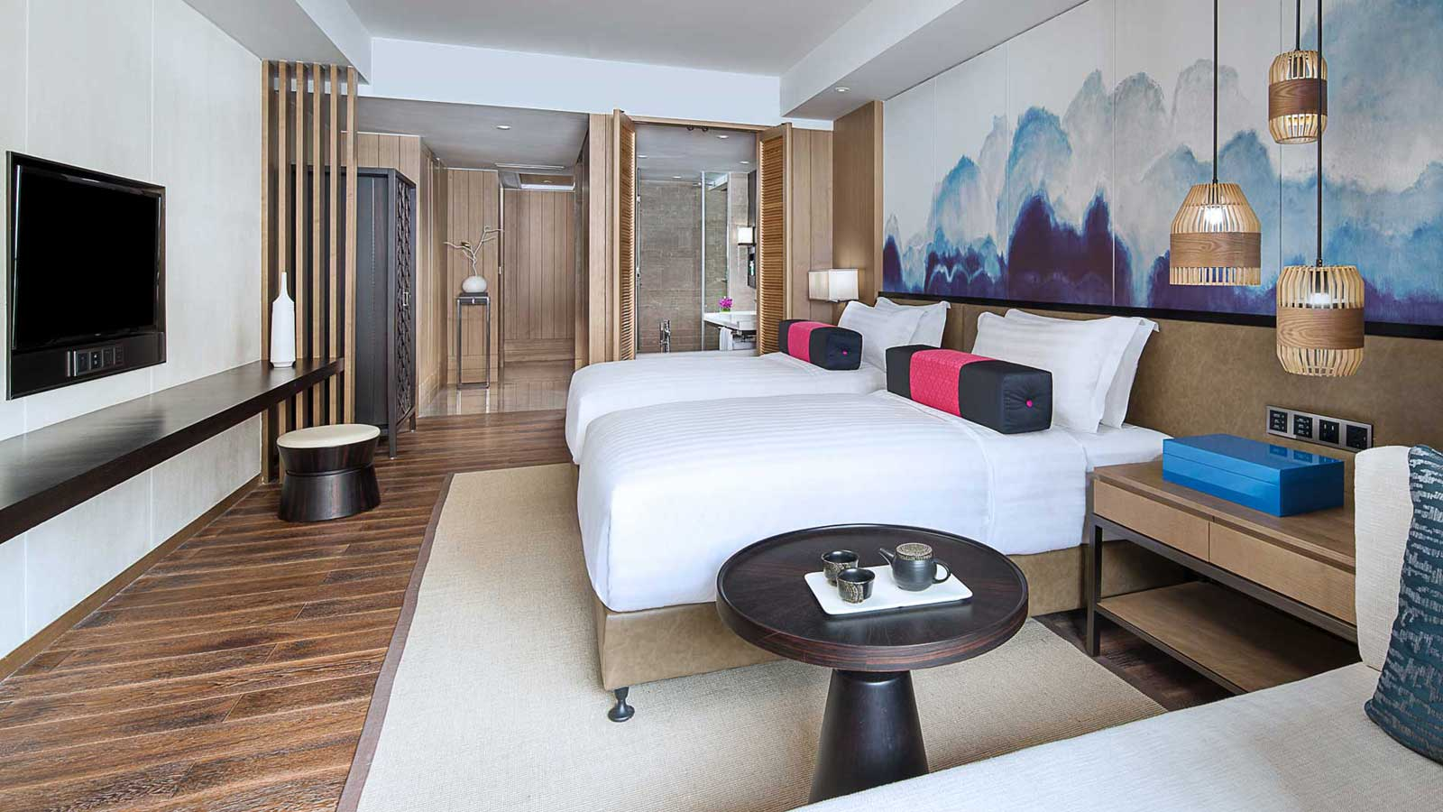 Twin-sized beds in Superior room